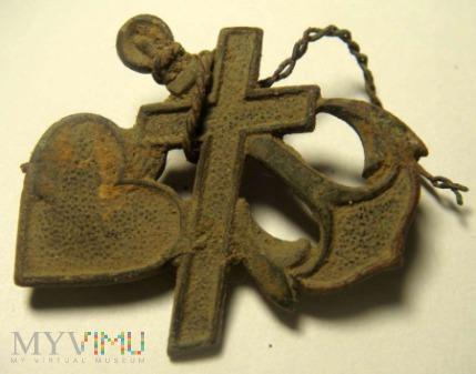 zawieszka/wpinka - krzyż ,serce ,kotwica