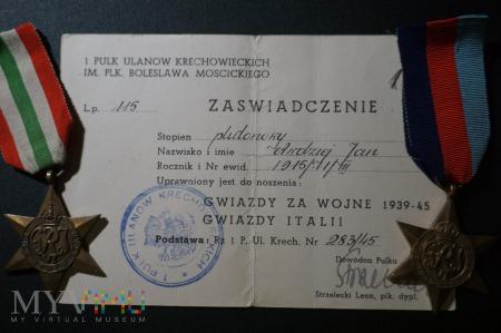 Legitymacja do orderów GI i GZW 1939-45 PSZnZ