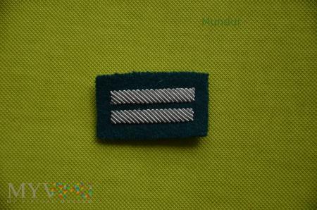 Haftowany stopień kaprala na beret zielony