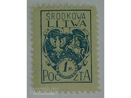 1 M znaczek z Litwy Środkowej