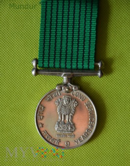 Indyjski medal: 9 years Long Service Medal