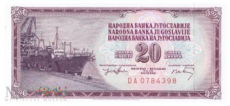 Jugosławia - 20 dinarów (1974)