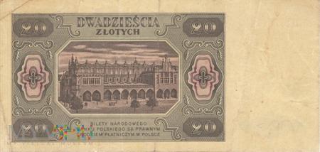 POLSKA PRL 20 ZŁOTYCH 1948