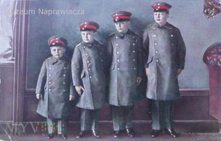 Czterech oficerów piechoty.