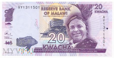 Malawi - 20 kwacha (2015)