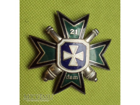 Odznaka 21 Dywizjonu Artylerii Mieszanej - Rzeszów