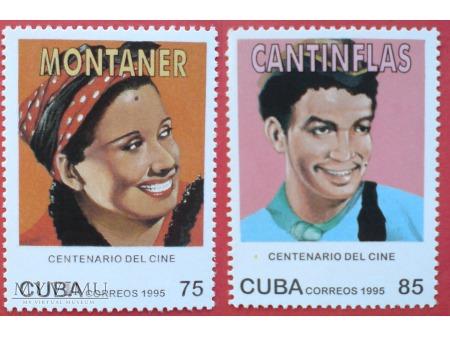 Cuba Centenario del Cine 1995 Znaczki Kino Film