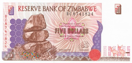 Zimbabwe - 5 dolarów (1997)