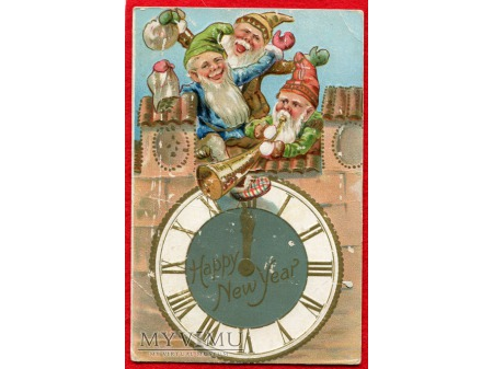 1910 NOWY ROK Wesołe Skrzaty noworoczne