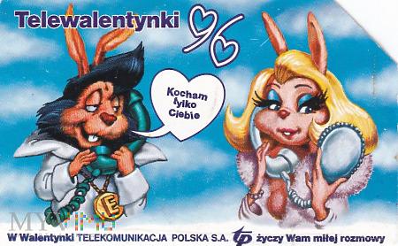 Karta telefoniczna - Telewalentynki 96