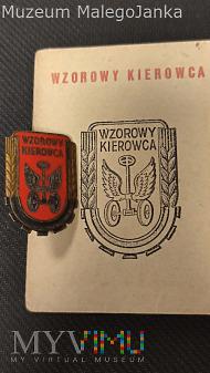 Legitymacja i odznaka Wzorowy Kierowca 1953 r.