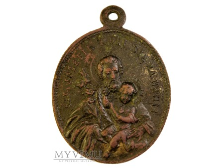 Duży miedziany medalik