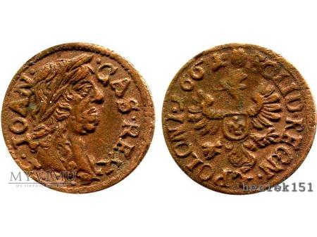 szeląg koronny 1661 1