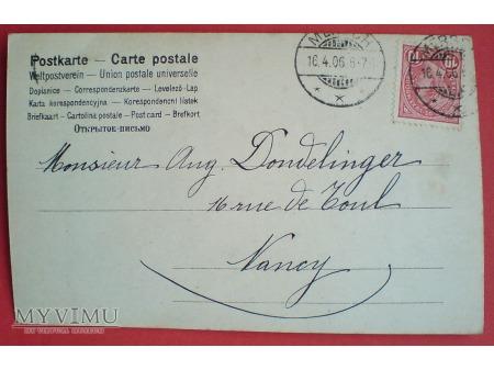 1906 Cléo de Mérode piękna Ballerina Belle époque
