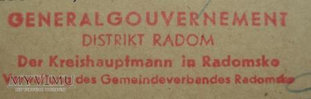 kwit, Generalne Gubernatorstwo, rok 1941