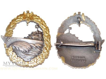 Kriegsmarine Odznaka dla załóg Niszczycielii.