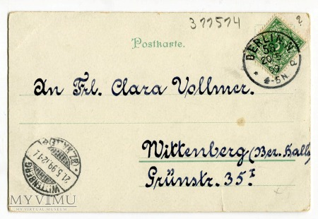 1899 Krasnale i Zielone Świątki chromolitografia