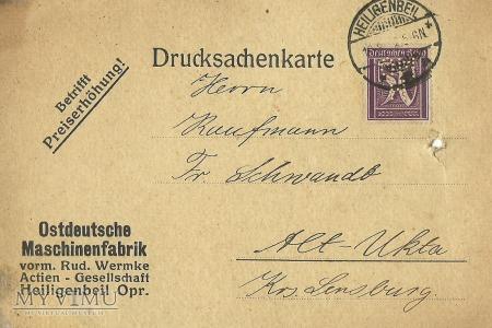 Heiligenbeil - 19.08.1922 r.