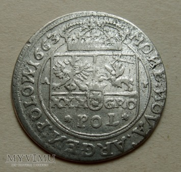 Zlotówka- 1663 r- Tymf-bardzo rzadka