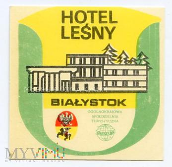 Nalepka hotelowa - Białystok - Hotel Leśny