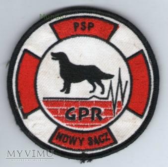 Emblemat przewodnika psa GPR PSP Nowy Sącz