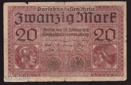 Niemcy, 20 marek 1918r. Ser.U