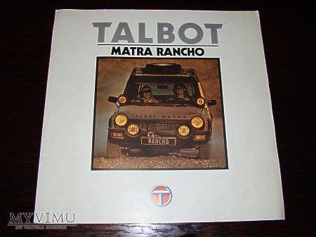 Prospekt TALBOT MATRA RANCHO