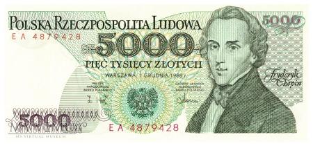 Polska - 5 000 złotych (1988)