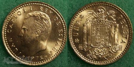 Hiszpania, 1 PESETA 1975