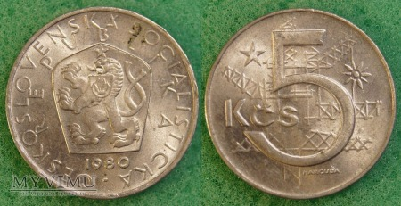 Czechosłowacja, 5 korun 1980