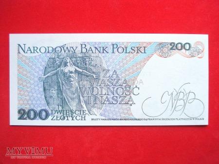 200 złotych 1988 rok