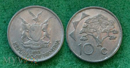 Namibia, 10 centów 1993
