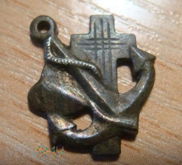 srebrna zawieszka - krzyż ,serce ,kotwica - 835