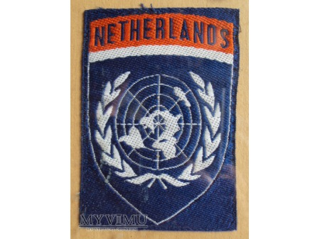 Duże zdjęcie Holenderska oznaka ONZ