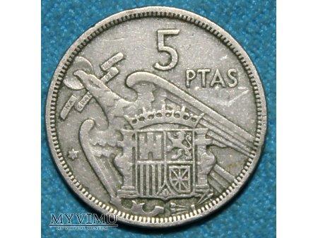 5 Ptas-Hiszpania 1957