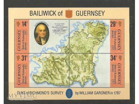 Mapa Guernsey.
