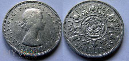 Wielka Brytania, 2 SHILLINGS 1964
