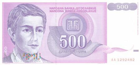 Jugosławia - 500 dinarów (1992)