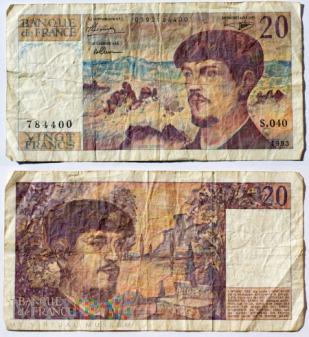 Francja, 20 franków, 1993