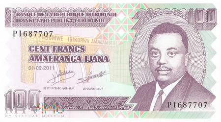 Burundi - 100 franków (2011)