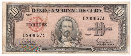 Kuba - 10 pesos (1960)