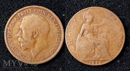 Wielka Brytania, half penny 1919