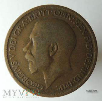 Moneta 1/2 Pensa 1923 Jerzy V Half Penny