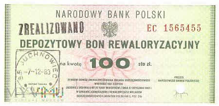 Polska (NBP) - 100 złotych (1982)