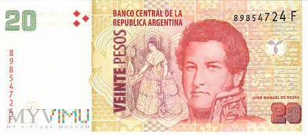 Argentyna - 20 pesos (2016)