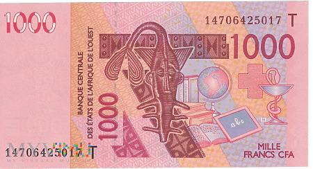 Togo (CFA) - 1 000 franków (2014)