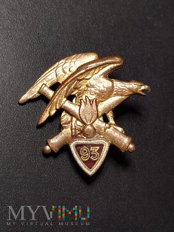 Odznaka 93 Pułku Artylerii Górskiej - Francja