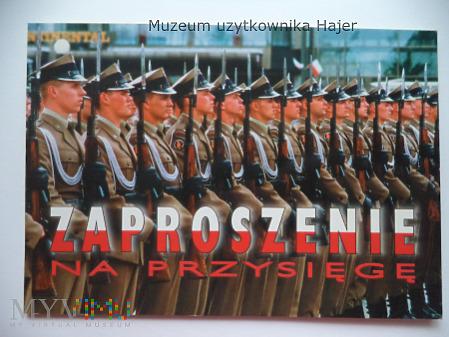 JW 1956 Ostrów Wlkp. Zaproszenie na Przysięgę 2002