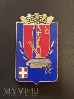 58 Pułk Artylerii Przeciwlotniczej - Francja