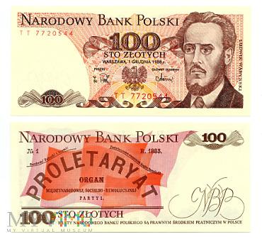 Duże zdjęcie PRL 100 złotych 1988 (TT 7720544)
